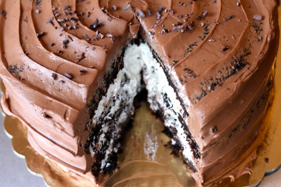 Chocolate Toasted Marshmallow Cake