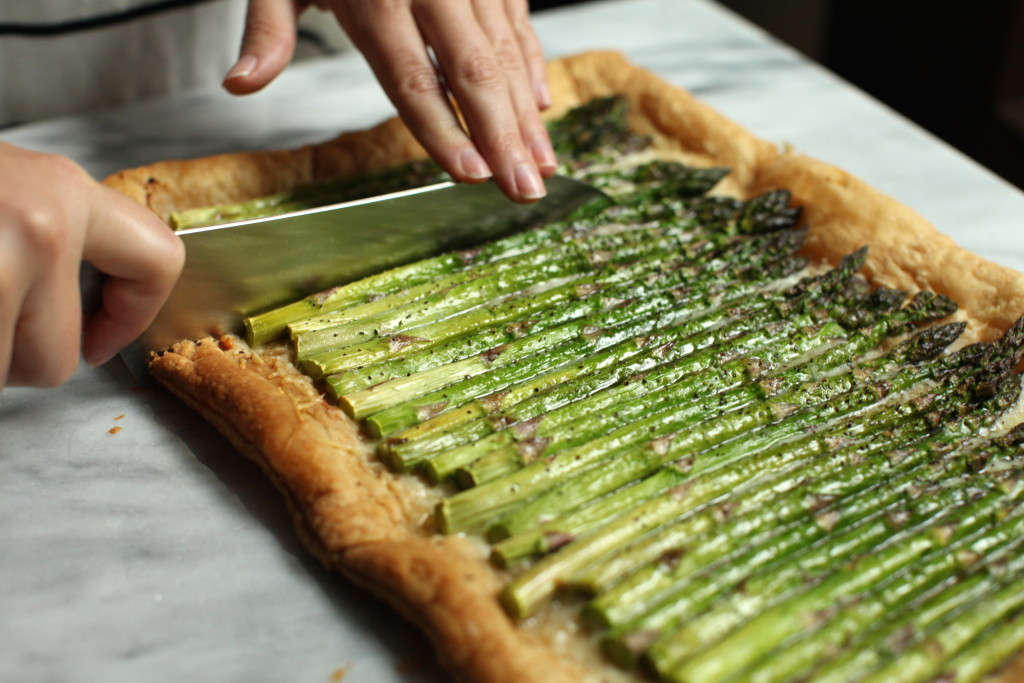 Asparagus Tart 4:The Foodie Chef