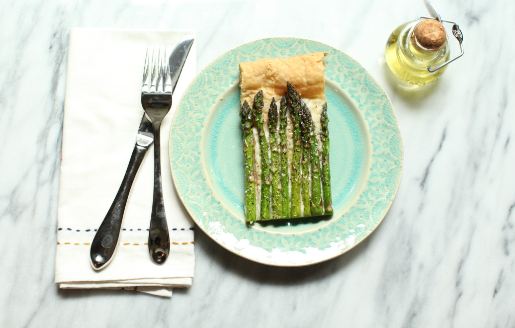 Asparagus Tart 1:The Foodie Chef