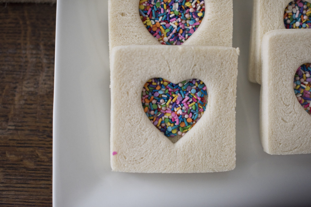 Heart Shaped Fairy Bread The Foodie Chef